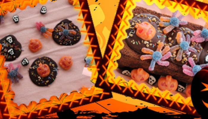 Chocolatitos y Brownie Especial Halloween